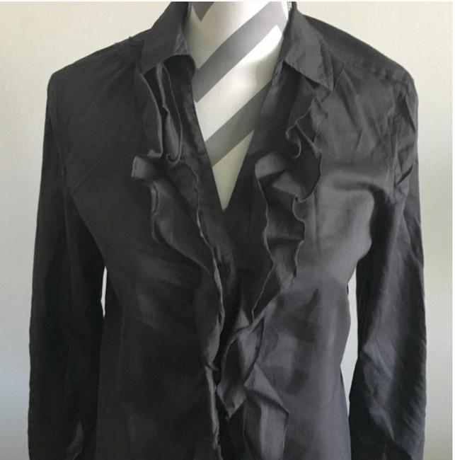 Express Button Down Shirt Charcoal Gray