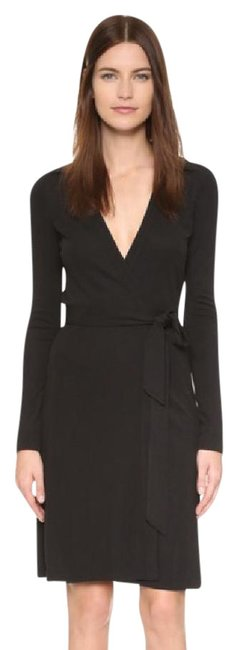 Preload https://item1.tradesy.com/images/diane-von-furstenberg-black-dvf-new-jeanne-two-wrap-mid-length-workoffice-dress-size-2-xs-21257315-0-1.jpg?width=400&height=650