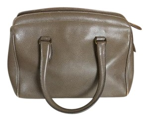 Coach Leather Dust Grey Satchel in Black