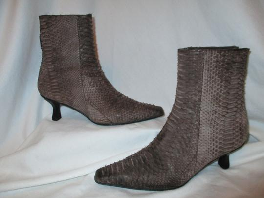 Stuart Weitzman Leather Snakeskin Ankle brown Boots
