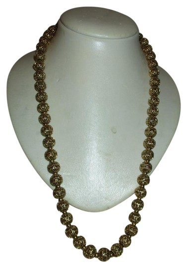 Preload https://item3.tradesy.com/images/napier-gold-filigree-ball-chain-necklace-21257522-0-1.jpg?width=440&height=440