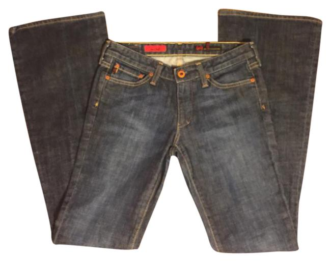 Preload https://item5.tradesy.com/images/ag-adriano-goldschmied-medium-wash-blue-denim-the-club-boot-flare-boot-cut-jeans-size-26-2-xs-21257554-0-1.jpg?width=400&height=650