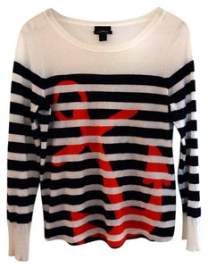 J.Crew Nautical Anchor Ital Cashme Summer Resort Wear Sweater