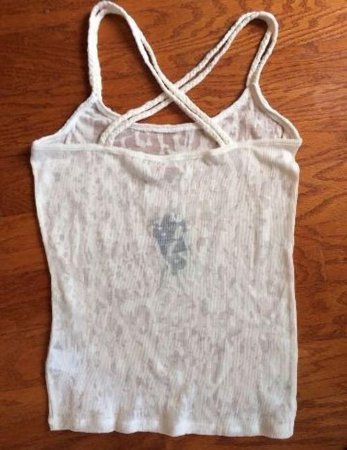 Silver Jean Crochet Strap Top White