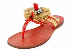 Tory Burch Thong Summer Women Red Sandals