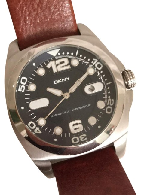 Item - Silver Black Illuminated Numbers & Hands Date Indicator Watch
