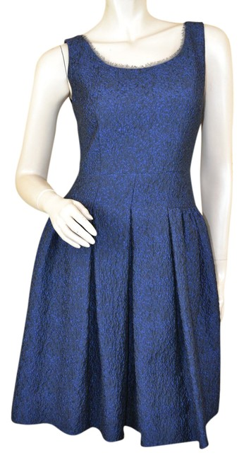 Preload https://img-static.tradesy.com/item/21257742/elie-tahari-blue-fit-and-flare-short-cocktail-dress-size-4-s-0-1-650-650.jpg