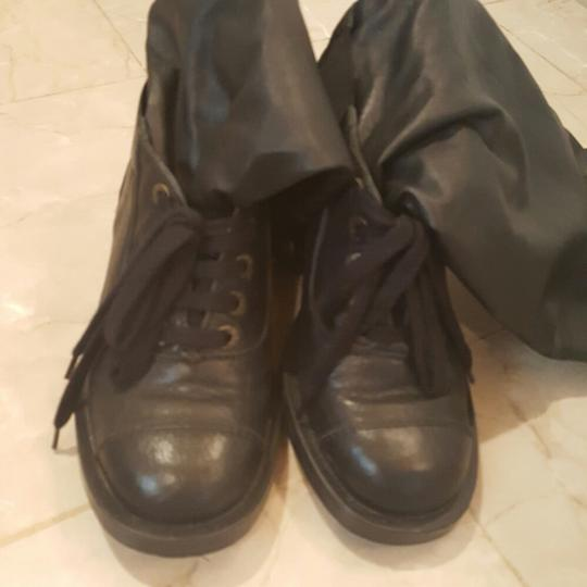 Chanel Black leather boots Boots