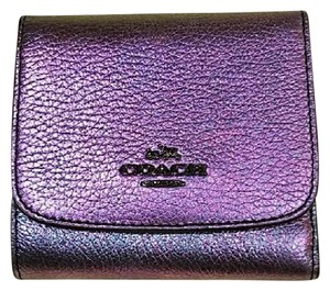 Coach Coach Iridescent Hologram Leather Wallet NWT