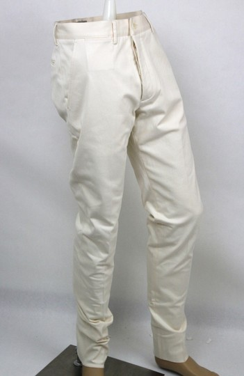 Bottega Veneta White Men's Dress Pants It 50/Us 34 341458 9902 Groomsman Gift