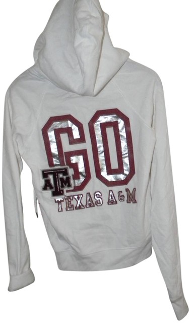 Preload https://item4.tradesy.com/images/victoria-s-secret-white-cotton-blend-texas-atm-go-texas-activewear-hoodie-size-10-m-31-21257808-0-1.jpg?width=400&height=650