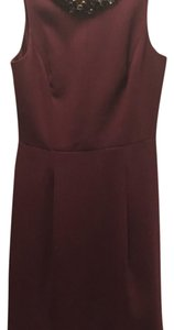 Eliza J short dress maroon on Tradesy
