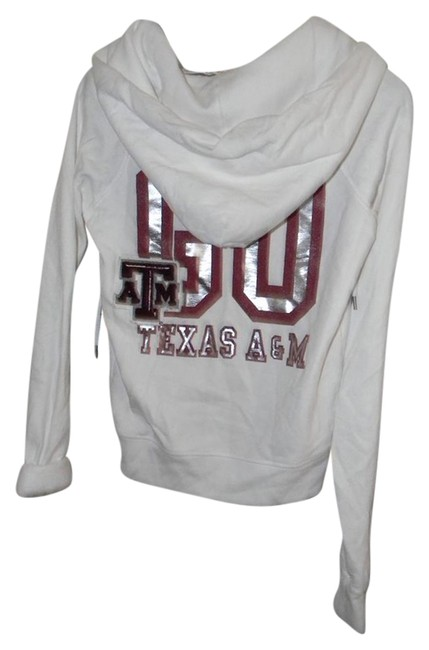 Preload https://item5.tradesy.com/images/victoria-s-secret-white-cotton-blend-texas-atm-go-texas-activewear-hoodie-size-6-s-28-21257819-0-1.jpg?width=400&height=650