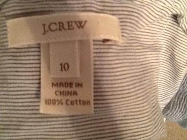 J.Crew Striped Top White, Grey, Blue