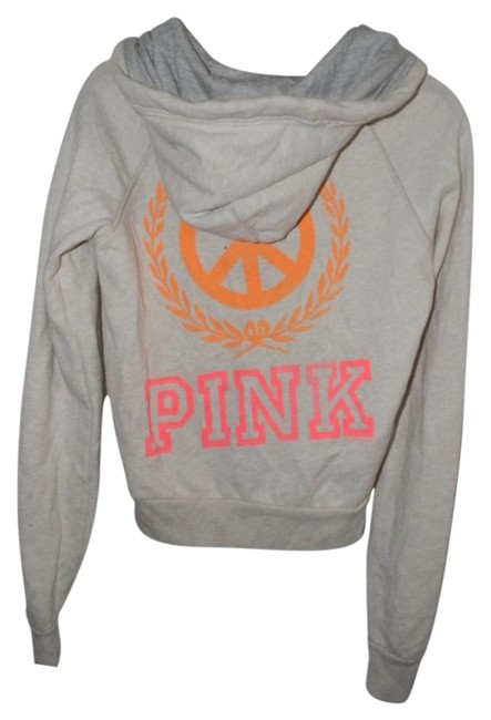 Preload https://item4.tradesy.com/images/victoria-s-secret-oatmeal-cotton-blend-orange-peace-sign-graphic-decor-activewear-hoodie-size-2-xs-2-21257913-0-1.jpg?width=400&height=650