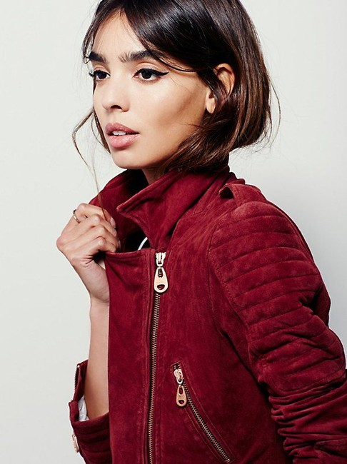 DOMA Free People Leather Suede Biker Motorcycle Jacket