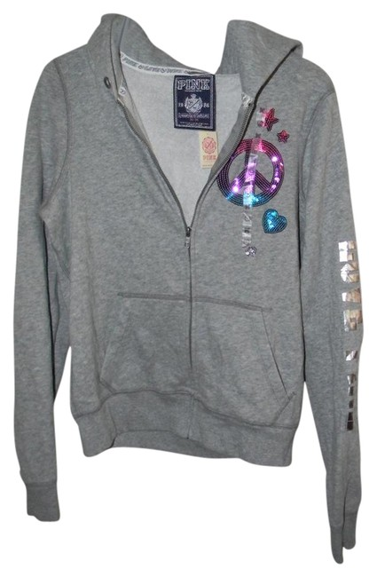 Preload https://item2.tradesy.com/images/victoria-s-secret-grey-cotton-blend-love-pink-graphic-decor-activewear-hoodie-size-8-m-29-30-21257996-0-1.jpg?width=400&height=650