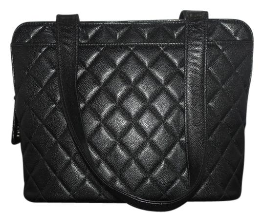 Chanel Caviar Caviar Tote Quilted Black Shoulder Bag 76% off retail