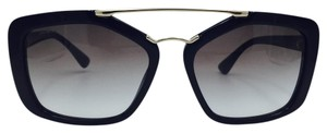 Prada Black with Gold Square Prada Sunglasses SPR 24R 56