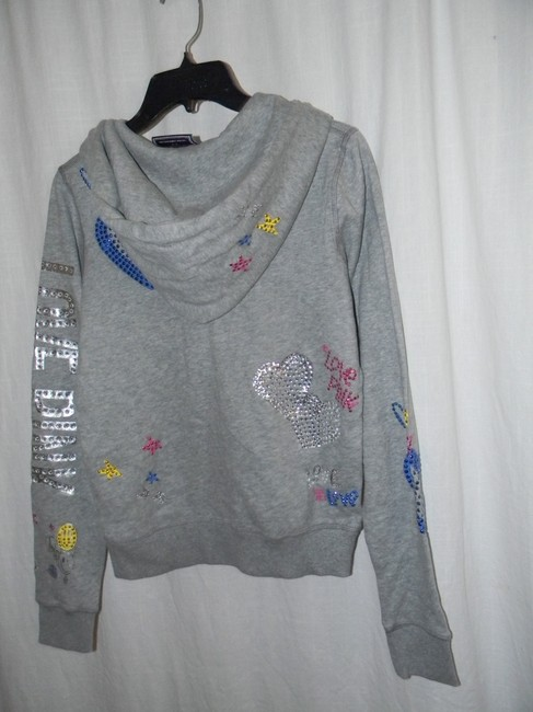 Victoria's Secret Cotton Blend Multi Rhinestones LOVE PINK Hoodie