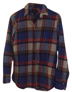 J.Crew Button Down Shirt Red and blue