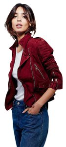 DOMA Free People Suede Biker Leather Motorcycle Jacket