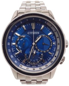 Citizen Eco-Drive Mens Calendrier World Timer Blue Dial Watch BU2021-51L