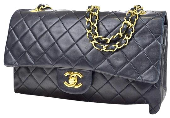 Preload https://item3.tradesy.com/images/chanel-classic-flap-classic-double-chain-black-lambskin-leather-shoulder-bag-21258082-0-6.jpg?width=440&height=440