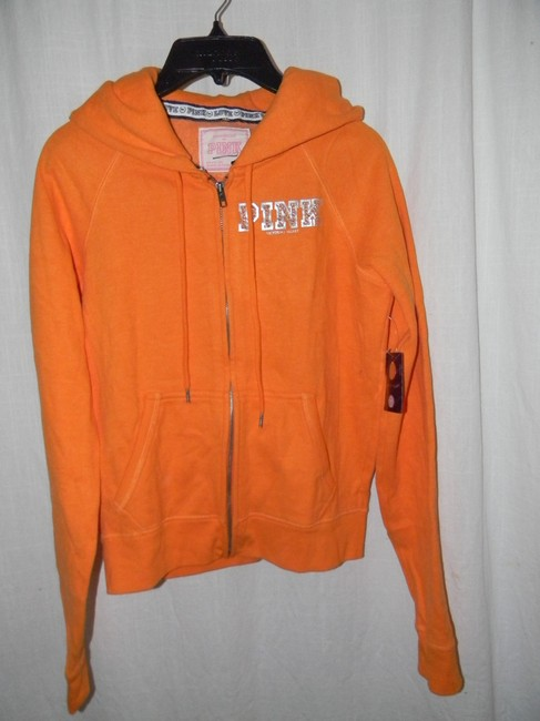 Victoria's Secret Cotton Blend Orange Rhinestones FLORIDA A&M Hoodie
