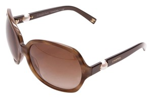 Chanel Chanel Brown Tortoiseshell Pearle Collection Sunglasses