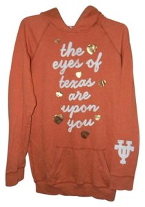 Victoria's Secret Cotton Blend Orange UNIVERSITY OF TEXAS Hoodie
