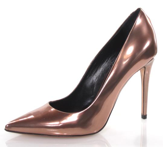 Alexander Wang Metallic High Architectural Rose Gold Pumps