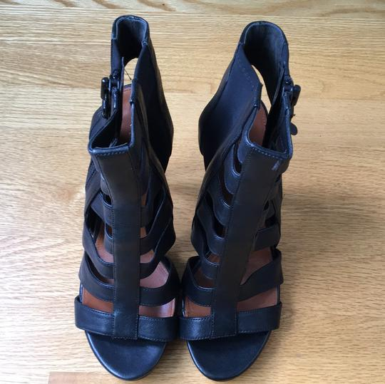 Via Spiga Caged Black Sandals