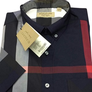 Burberry Button Down Shirt Navy