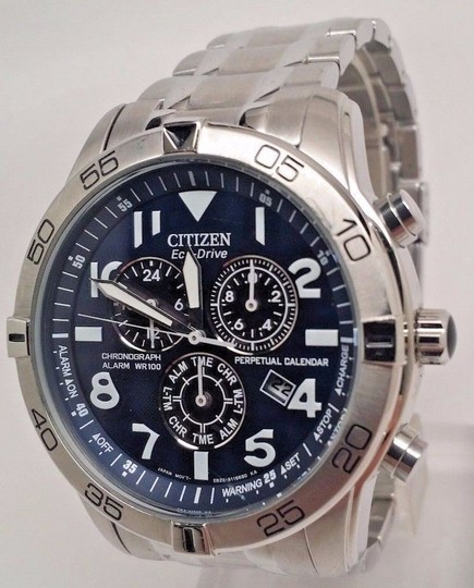 Citizen Men's Eco-Drive BL5470-57L Silver Stainless-Steel Eco-Drive Watch