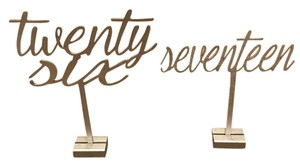 Silver Wedding Table Numbers Freestanding