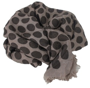 Gucci New GUCCI 367220 Women's Brown GG Guccissima Polka Dot Scarf