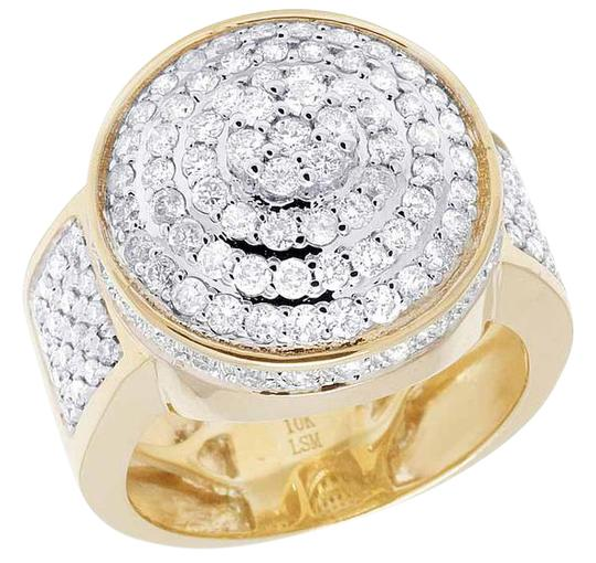 Preload https://img-static.tradesy.com/item/21258200/10k-yellow-gold-men-s-real-diamond-round-3d-pinky-2-16-ct-20mm-ring-0-1-540-540.jpg