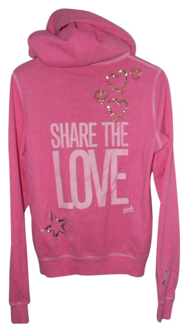 Preload https://item3.tradesy.com/images/victoria-s-secret-pink-cotton-blend-share-the-love-activewear-hoodie-size-2-xs-26-21258217-0-1.jpg?width=400&height=650