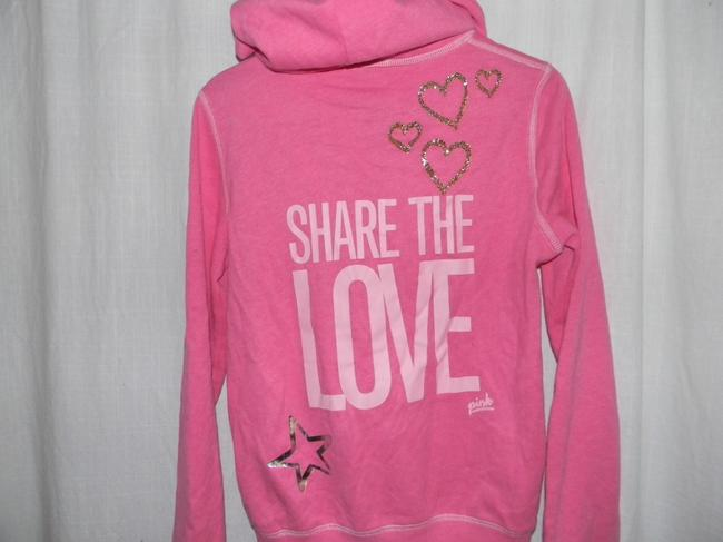 Victoria's Secret Cotton Blend SHARE THE LOVE Hoodie