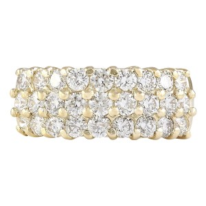 Fashion Strada 2.00 CTW Natural Diamond Ring In 14k Yellow Gold