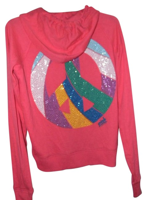 Preload https://img-static.tradesy.com/item/21258290/victoria-s-secret-orange-cotton-blend-rainbow-rhinestones-peace-sign-activewear-hoodie-size-10-m-31-0-1-650-650.jpg