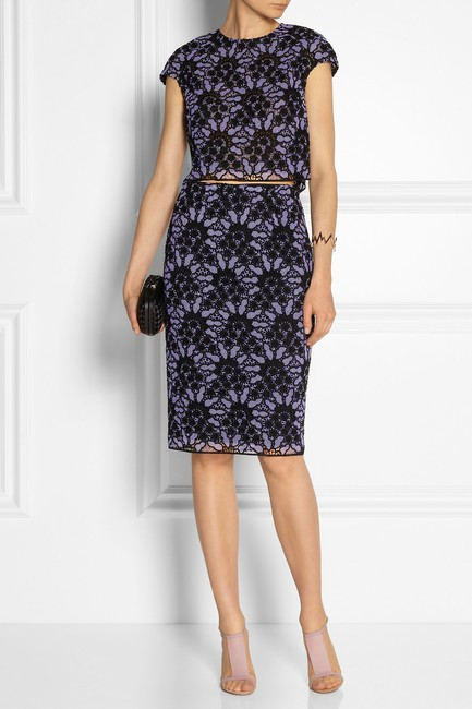 Lela Rose short dress Purple Burberry Chanel Victoria Beckham The Row Gucci on Tradesy