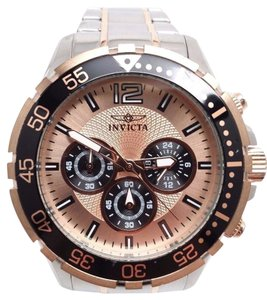 Invicta 16289 Specialty Chronograph 24hr. Rose Dial Stainless Steel Mens Watch