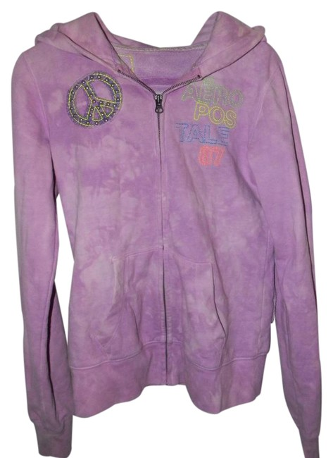 Preload https://img-static.tradesy.com/item/21258358/aeropostale-lavender-cotton-blend-rhinestones-peace-sign-activewear-hoodie-size-6-s-28-0-1-650-650.jpg