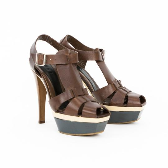 Lanvin Brown / Beige / Black Sandals