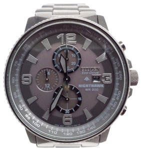 Citizen NightHawk EcoDrive Chronograph Black IP Mens Watch CA0295-58E