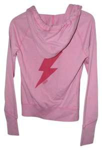 Victoria's Secret Cotton Blend Red Lightning Graphics Hoodie