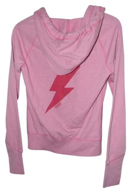 Victoria's Secret Pink Cotton Blend Red Lightning Graphics Activewear Outerwear Size 2 (XS, 26) Victoria's Secret Pink Cotton Blend Red Lightning Graphics Activewear Outerwear Size 2 (XS, 26) Image 1