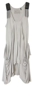 Guess Spike Studded Chain Panel Sleeveless Dress